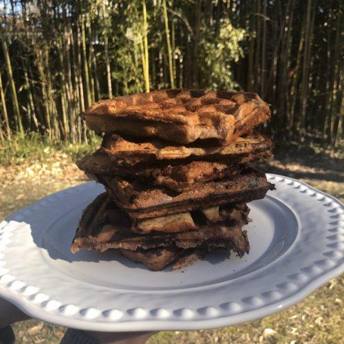 Choconana waffles