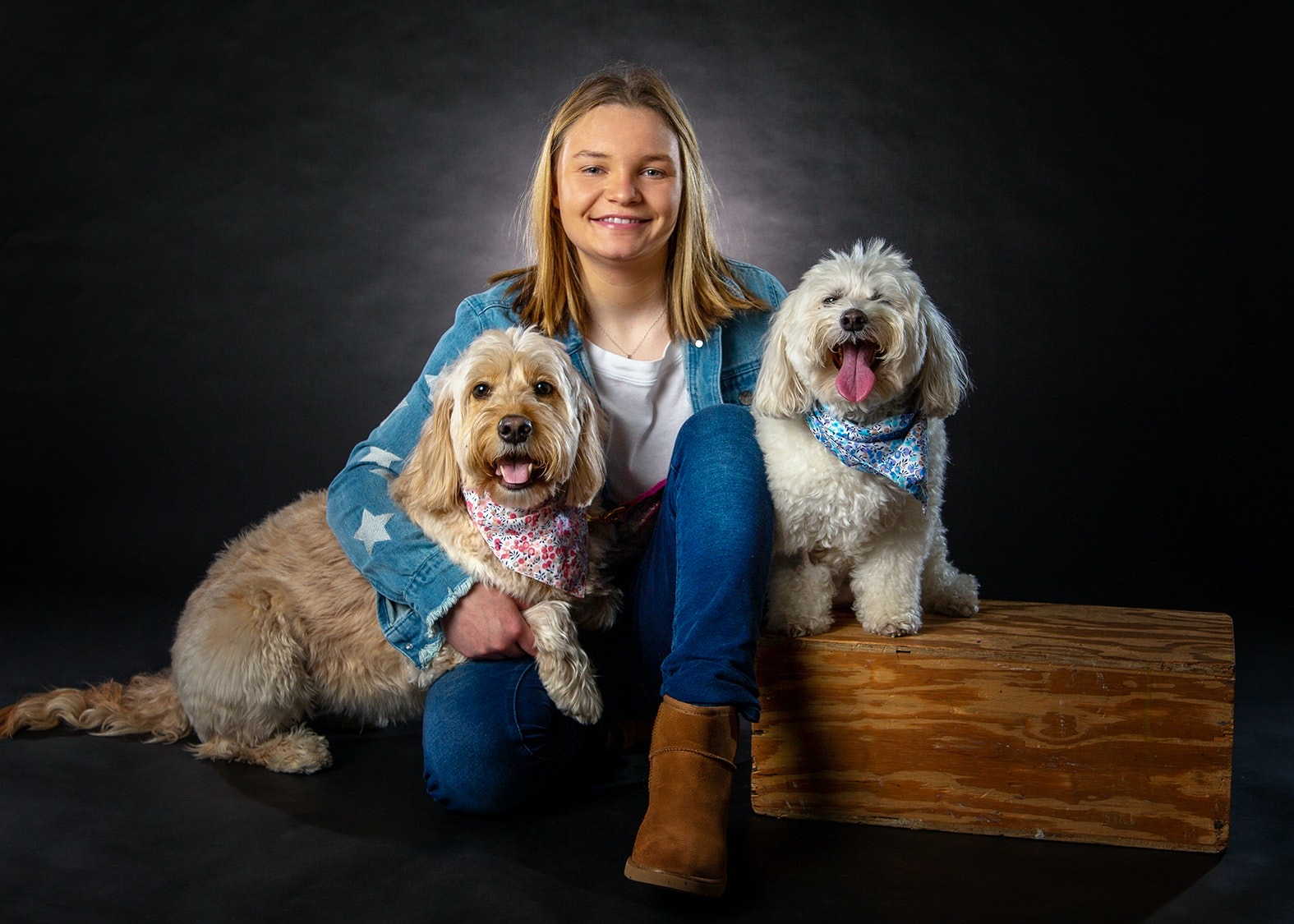 Gracie Dix and dogs
