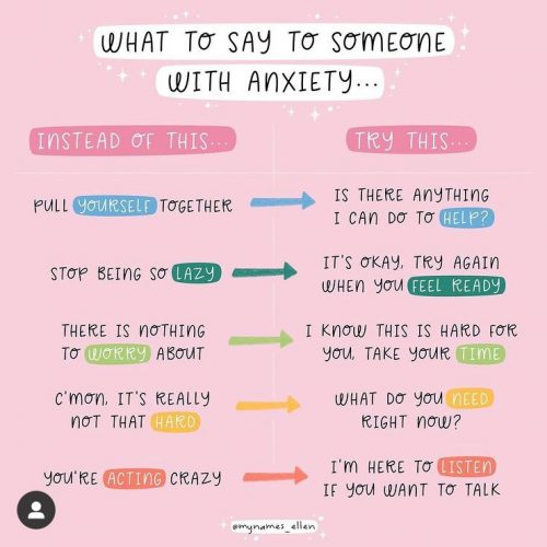 what to say to someone with anxiety