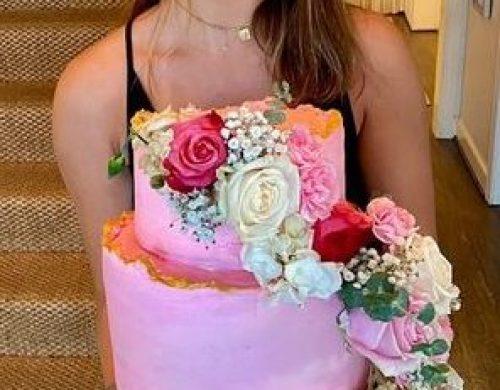 Ella with cake