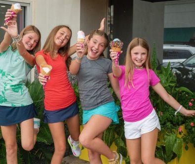 Girls with Ice Cream Cones