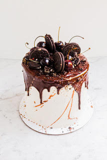 cake with drip icing